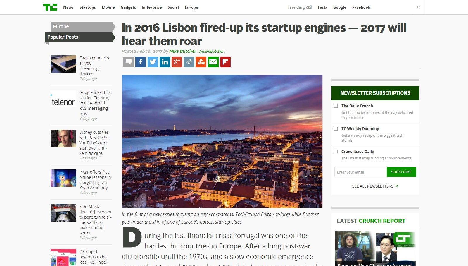 Empreendedorismo português TechCrunch