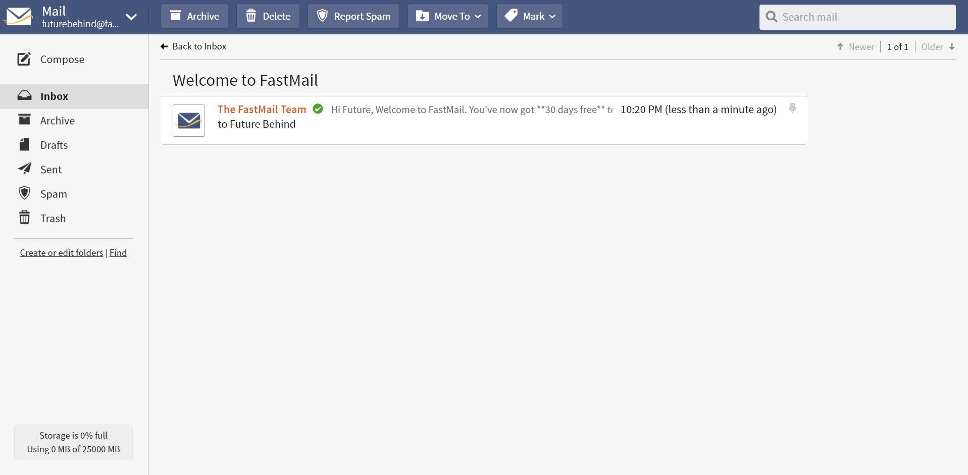 Serviços de email   Fastmail