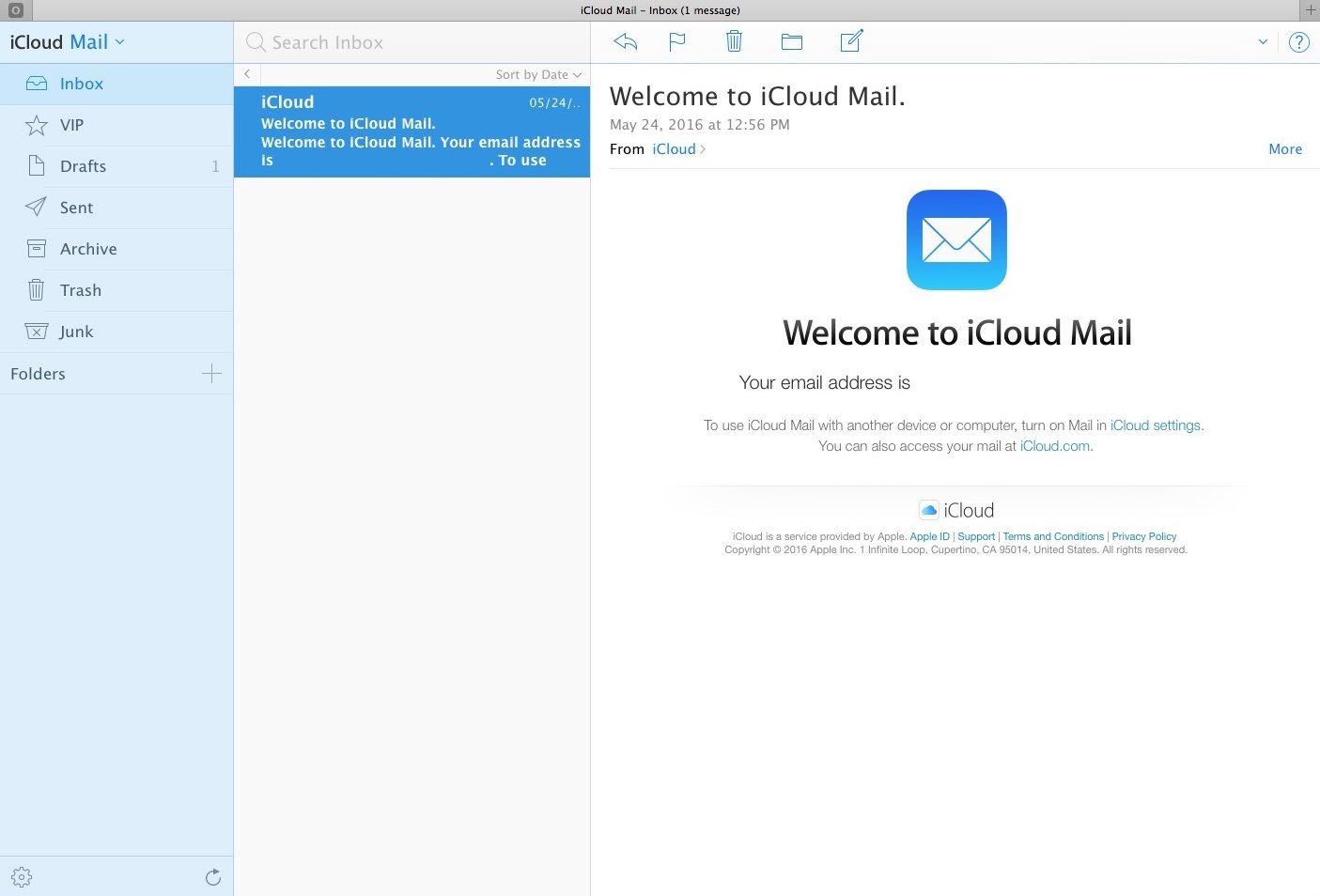Serviços de email   iCloud