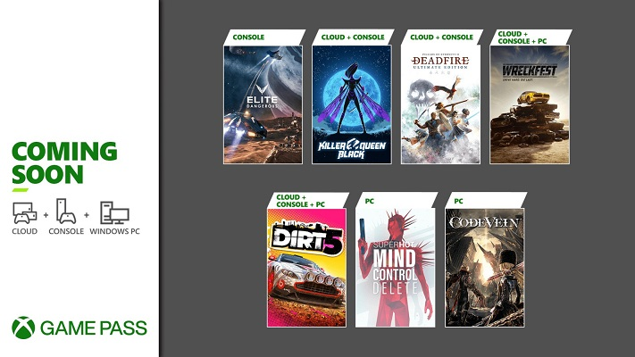 Xbox Gaming Pass fevereiro