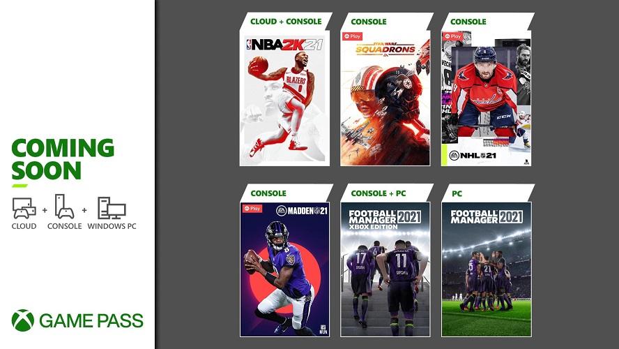 Xbox Game Pass março